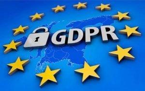 GDPR on blue background